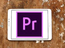 Adobe Premiere Pro logo. Logo of Adobe Premiere Pro on samsung tablet. Adobe Premiere Pro is a timeline based video editing app developed by Adobe Systems and Royalty Free Stock Images