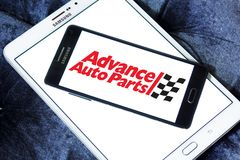Advance Auto Parts logo. Logo of Advance Auto Parts on samsung mobile. Advance Auto Parts is a retailer of automotive parts and accessories in the United States Royalty Free Stock Photo