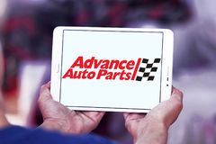 Advance Auto Parts logo. Logo of Advance Auto Parts on samsung tablet. Advance Auto Parts is a retailer of automotive parts and accessories in the United States Royalty Free Stock Image