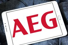 AEG electronics company logo Royalty Free Stock Photo