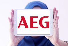 AEG electronics company logo Stock Photo