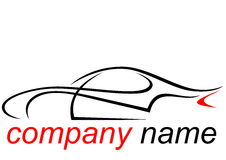 Logo of a aerodynamic sports car Stock Image