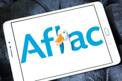 Aflac , American Family Life Assurance Company logo Stock Photo