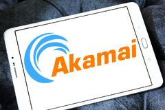 Akamai Technologies logo. Logo of Akamai Technologies on samsung tablet. Akamai Technologies, Inc. is an American content delivery network CDN and cloud services Royalty Free Stock Photos