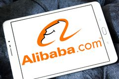 Alibaba Group logo. Logo of Alibaba Group on samsung tablet. Alibaba is a Chinese e-commerce company that provides consumer-to-consumer, business-to-consumer and stock photos