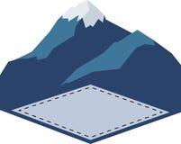 Logo all'aperto dell'annata di avventura Illustrazione di vettore Immagini Stock