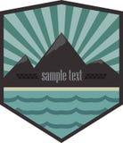 Logo all'aperto dell'annata di avventura Illustrazione di vettore Fotografia Stock Libera da Diritti