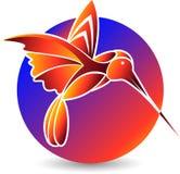 Logo alla moda dell'uccello Fotografia Stock