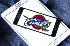 Logo américain d'équipe de basket de Cleveland Cavaliers Photographie stock