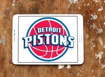 Logo américain d'équipe de basket de pistons de Detroit photo libre de droits