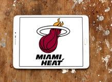 Logo américain d'équipe de basket du Heat de Miami images libres de droits