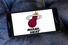 Logo américain d'équipe de basket du Heat de Miami image stock