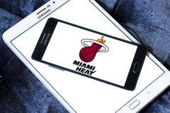 Logo américain d'équipe de basket du Heat de Miami photos stock