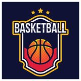 LOGO AMÉRICAIN DE SPORT DE BASKET-BALL Photos libres de droits