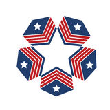Logo American stars Stock Photography