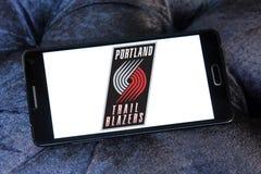 Logo americano della squadra di pallacanestro delle giacche sportive di traccia di Portland Fotografie Stock