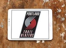 Logo americano della squadra di pallacanestro delle giacche sportive di traccia di Portland Immagine Stock