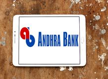 Andhra Bank logo. Logo of Andhra Bank on samsung tablet. Andhra Bank is a medium sized public sector bank PSB of India stock photo