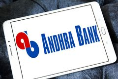Andhra Bank logo. Logo of Andhra Bank on samsung tablet. Andhra Bank is a medium sized public sector bank PSB of India royalty free stock photography