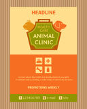 Logo for animal clinic. Brochure, Flyer design Stock Photo