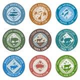 Logo animals, illustration, label Royalty Free Stock Photo