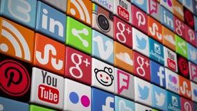 Logo Animation of Social Media Platforms