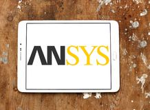 Ansys software company logo. Logo of Ansys software company on samsung tablet. It develops and markets engineering simulation software. Ansys software is used to stock images