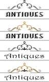 Logo - antiquités 04 illustration stock