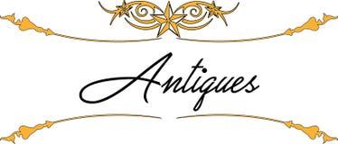 Logo - antiquités 05 illustration stock
