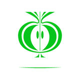 Logo apple symmetrical logo Vector graphics. Logo apple, symmetrical logo. Vector graphics Royalty Free Stock Photo