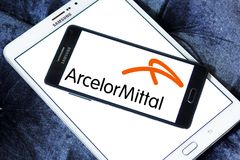ArcelorMittal steel manufacturing company logo Stock Photography
