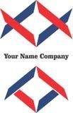 Logo art modern bussines blue red simple design company logos vector build. Logo art modern bussines blue red simple design company logos vector Stock Photos
