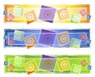Logo artistique abstrait de spirales illustration de vecteur