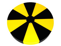 Logo as a nuclear warning №11 Stock Image
