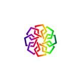 Logo astratto arabo Immagini Stock