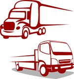 Logo astratto del camion Fotografia Stock
