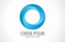 Logo astratto del cerchio Fotografia Stock Libera da Diritti