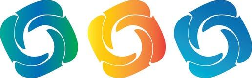 Logo astratto del cerchio Fotografia Stock