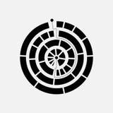 Logo astratto del cerchio Fotografie Stock Libere da Diritti