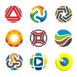 Logo astratto del cerchio per la società di affari illustrazione di stock