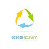 Logo astratto del ciclo Fotografia Stock
