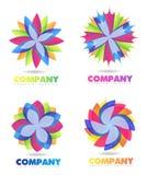 Logo astratto del fiore Fotografia Stock Libera da Diritti