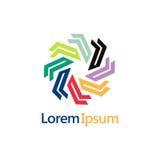 Logo astratto della geometria di colore del cerchio Immagini Stock