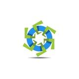 Logo astratto della turbina Fotografia Stock