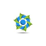 Logo astratto della turbina Fotografie Stock Libere da Diritti