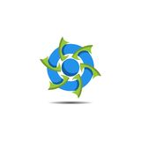 Logo astratto della turbina Fotografie Stock