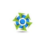 Logo astratto della turbina Fotografia Stock Libera da Diritti