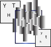 Logo astratto di affari di progettazione di rettangoli e dei quadrati Fotografia Stock