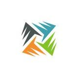 Logo astratto di colore del cerchio Immagini Stock