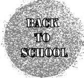 Logo astratto di nuovo all'illustrazione di vettore della scuola illustrazione di stock